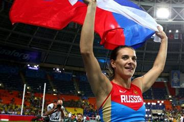 Elena Isinbaeva in the womens Pole Vault at the IAAFWorld Championships Moscow 2013 (Getty Images)