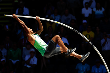 Ashton Eaton in the decathlon pole vault at the US Olympic Trials (Getty Images)