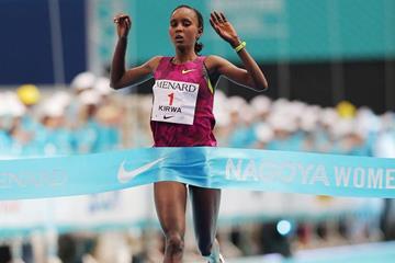 Eunice Kirwa wins the Nagoya Marathon (Agence SHOT)