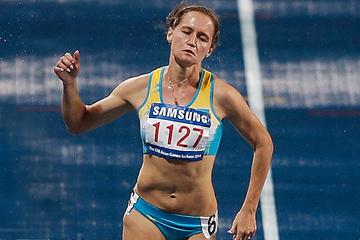 Kazakhstan's Viktoriya Zyabkina in the 200m (Getty Images)