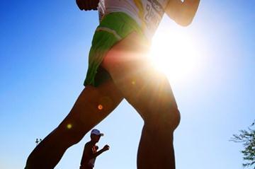 Luke Adams of Australia in action in the men's 50km race walk (Getty Images)