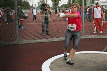 Poland's Anita Wlodarczyk improves to 76.59m in Ostrava to move into the event's all-time top-10 (Ostrava organisers)