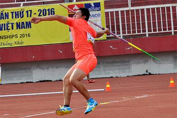 Jun-ya Sado in the javelin at the Asian Junior Championships (Organisers)