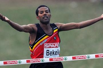 Atelew Bekele takes a commanding win at the European XC championships in Velenje (Mark Shearman)