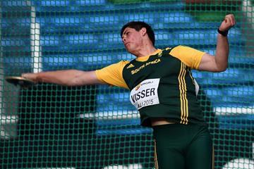 Werner Visser at the IAAF World Youth Championships, Cali 2015 (Getty Images)