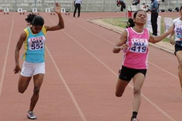 Dutee Chand, double sprint winner at 2012 Indian Youth Championships (Anu Kumar)
