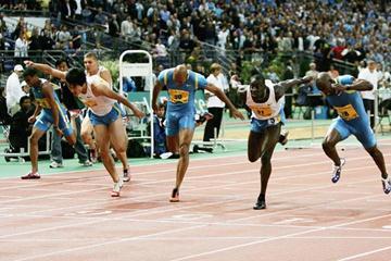 Ladji Doucouré of France wins the 110m Hurdles in Paris Golden League (Getty Images)