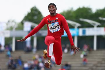 Chris Carter in the triple jump in Hengelo (Getty Images)