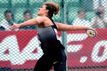 Sandra Perkovic, winner of the discus at the IAAF Diamond League meeting in Oslo (Mark Shearman)