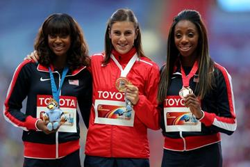 Womens 400m Hurdles Medal Ceremony at the IAAF World Athletics Championships Moscow 2013  (Getty Images)
