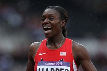 Dawn Harper of the United States is qualified for  the Women's 100m Hurdles final - London 2012 Olympic Games on  August 7, 2012 (Getty Images)