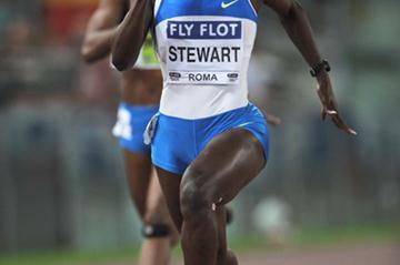 Kerron Stewart, winner of the women's 200m in Rome (Getty Images)