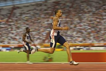 Wallace Spearmon on his way to winning the 200m in Split (Getty Images)