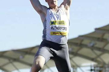 19 year old Rutherford leaps to 8.26m at the British Championships (Getty Images)