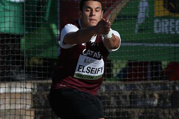 Ashraf Amgad Elseify in the hammer at the IAAF World Junior Championships, Oregon 2014 (Getty Images)