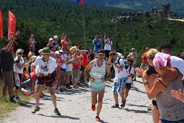 Slovenia's Mitja Kosovelj at the 2013 WMRA World Long Distance Mountain Running Challenge (Organisers)