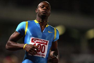 Asafa Powell makes his return from injury in Melbourne (Getty Images)