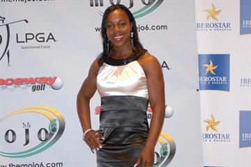 Veronica Campbell Brown at the Mojo6 event in Montego Bay (Paul Reid)