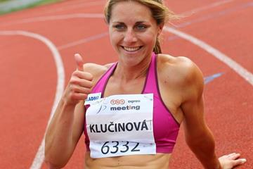 Eliska Klucinova at the 2014 TNT Express meeting in Kladno, Czech Republic ( Jan Kucharcik)