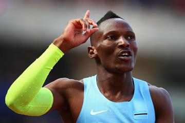 Isaac Makwala of Botswana after winning the 400m (Getty Images)