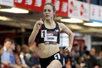USA's Jenny Simpson on her way to a comfortable victory (Victah Sailer)