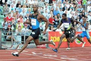 Asafa Powell storms to 9.72 sec (2.1m/s) win in Oslo Diamond League (Mark Shearman)