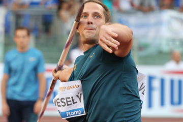 Vitezslav Vesely, winner of the javelin at the IAAF Diamond League meeting in Rome (Gladys von der Laage)
