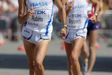 Georgio Rubino at the World Championships in Berlin, where he finished fourth in the 20Km Race Walk (Getty Images)