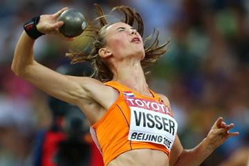 Nadine Visser in the heptathlon shot put at the IAAF World Championships, Beijing 2015 (Getty Images)