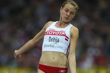Poland's Teresa Dobija in the long jump (Getty Images)