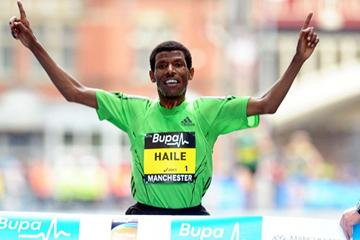 Another Manchester 10Km victory for Haile Gebrselassie - 2011 (Mark Shearman)