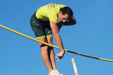 Renaud Lavillenie at the 2014 IAAF Diamond League in Oslo (Mark Shearman)