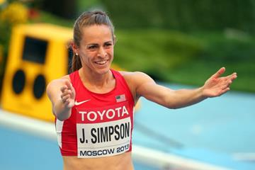 Jenny Simpson after the women's 1500m at the IAAF World Athletics Championships Moscow 2013 (Getty Images)