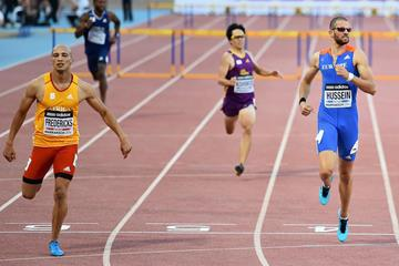 Cornel Fredericks (left) winning at the IAAF Continental Cup, Marrakech 2014  (Getty Images)