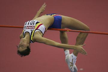 2.05 World leading jump by Tia Hellebaut in Birmingham (Getty Images)