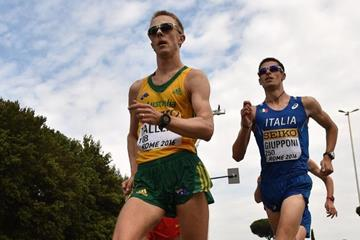 Jared Tallent in the 50km at the IAAF World Race Walking Team Championships Rome 2016 (Getty Images)