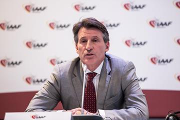 IAAF President Sebastian Coe (Philippe Fitte)