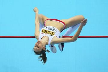 Poland's Kamila Licwinko in the high jump at the 2014 IAAF World Indoor Championships in Sopot (Getty Images)