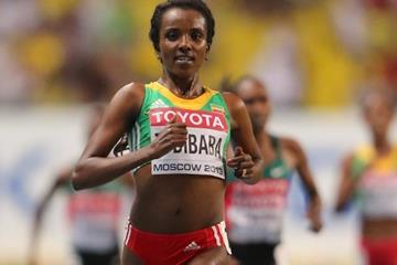 Tirunesh Dibaba in the women's 10,000m at the IAAF World Championships, Moscow 2013 (Getty Images)