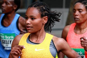 Gulume Tollesa in the 2015 Frankfurt Marathon (Victah Sailer / organisers)
