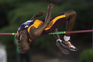 Rashid Ahmed Al-Mannai of Qatar takes the men's High Jump for team Asia/Pacific in Split (Getty Images)