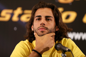 Gianmarco Tamberi at the press conference ahead of the IAAF Diamond League meeting in Rome (Giancarlo Colombo)