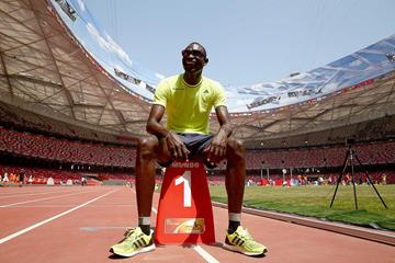 David Rudisha at the Bird's Nest stadium ahead of the IAAF World Championships, Beijing 2015 (Getty Images)