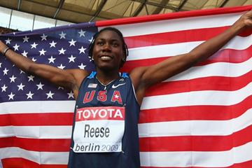 Brittney Reese of the United States celebrates winning the gold medal in the women's Long Jump final at the 12th IAAF World Championships in Athletics (Getty Images)