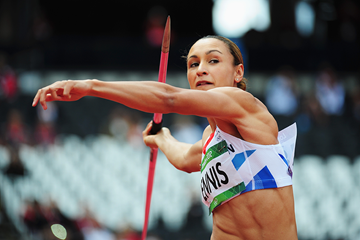 Jessica Ennis in the heptathlon javelin at the London 2012 Olympic Games (Getty Images)