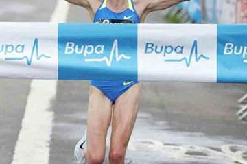Benita Johnson winning the Edinburgh 10km (Mark Shearman)