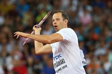 Tero Pitkamaki in the javelin at the IAAF World Championships, Beijing 2015 (Getty Images)