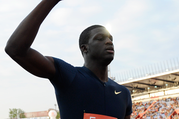 Kirani James after winning the 400m (AFP / Getty Images)