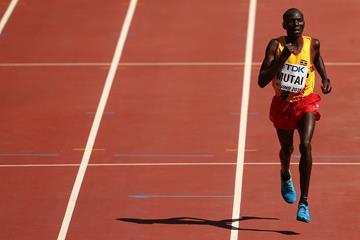 Solomon Mutai of Uganda finishes third in the marathon at the IAAF World Championships, Beijing 2015 (Getty Images)