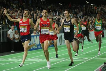 Matthew Centrowitz wins the 1500m at the IAAF World Indoor Championships Portland 2016 (Getty Images)